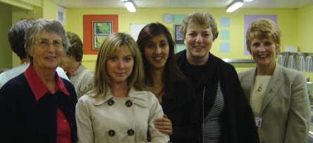 L-R Sue Carnochan, Charlotte Sabel, Yalda Saddigazadeh, Olive Ridge, Sue Meek