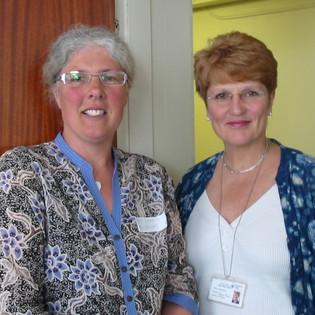 Anne Commins (Levisseur) and Sue Meek