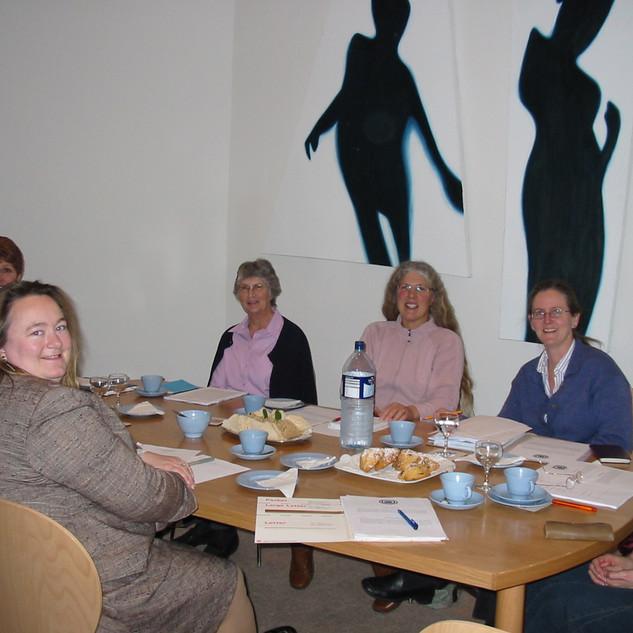 SMHA Meeting - December 2006 - clockwise Gilly Loder, Pamela James, Sue Meek, Sue Carnochan, Anne Commin, Susan Roller & Virginia James
