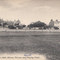 Hall, Hervey Terrace and the south playing field