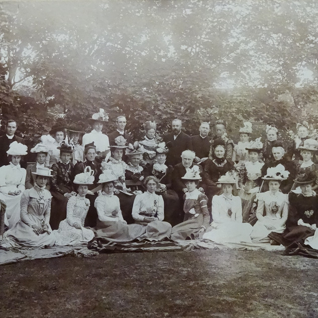 Headmistress, Edith Potter with Trustees (?) and Staff c 1900