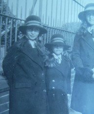 Sheila and Diana Talbot, early 1930s school uniform