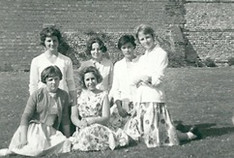 Veronica Alsop,  Brita Seeburg and others 1962 - kindly supplied by Jane Wharton (Alsop)
