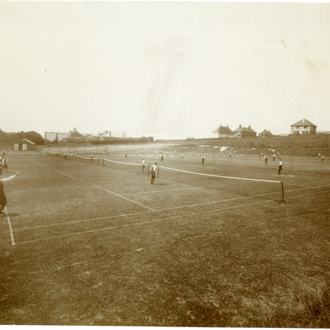 Tennis on Manor Field c 1930's