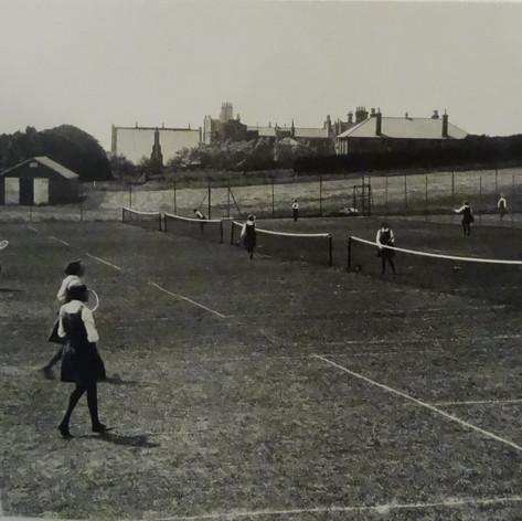 Playing Tennis c 1933