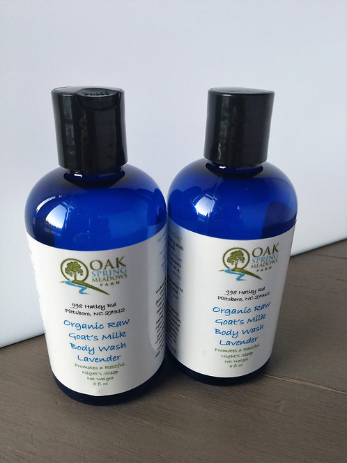 16 oz Organic Raw Goat's Milk Body Wash Lavender
