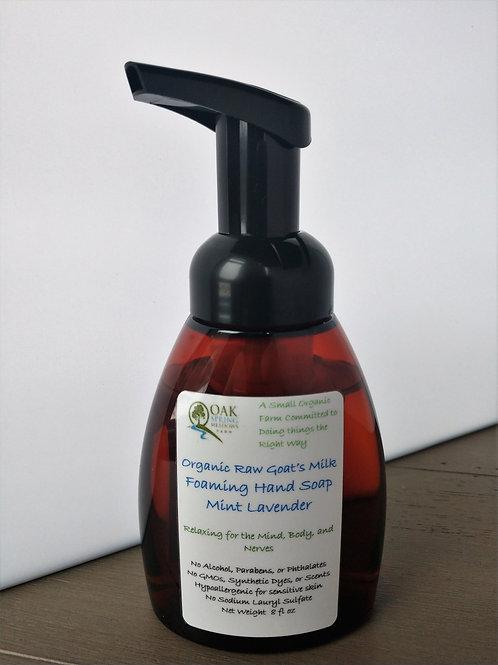 Organic Raw Goat's Milk Foaming Hand Soap Mint Lavender - 4 pack