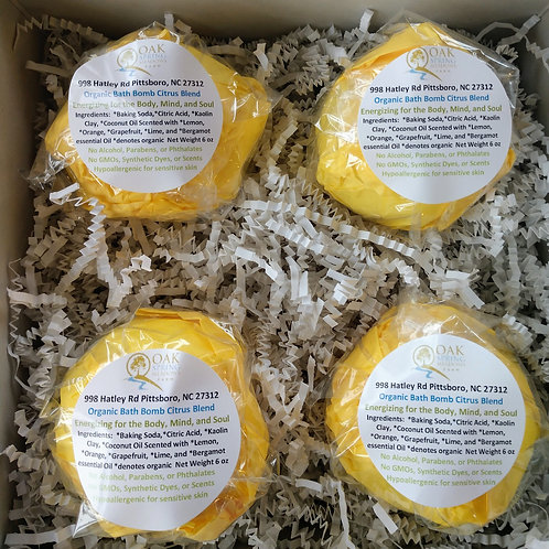 6 oz Organic Bath Bombs Citrus Blend - 4 Pack