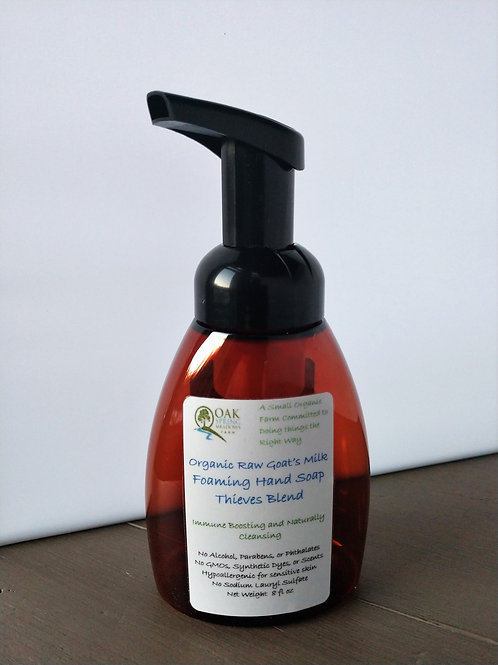 Organic Raw Goat's Milk Foaming Hand Soap Thieves - 4 pack