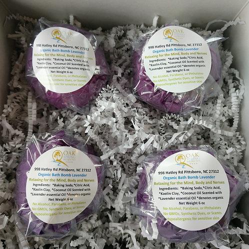 6 oz Organic Bath Bombs Lavender - 4 Pack