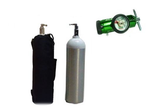 Kit Cilindro De Oxígeno Portátil 415Lts