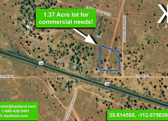 1.37 Acre Vacant Commercial Lot in Williams, AZ (APN: 501-32-013)