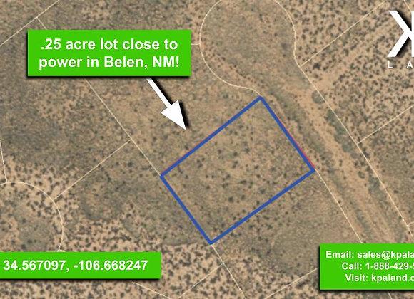 .25 Acre Vacant Lot #1 in Belen, NM (APN: 1-013-031-260-360-210310)