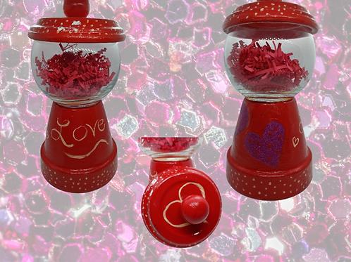 Purple and Red Heart Gumball Machine