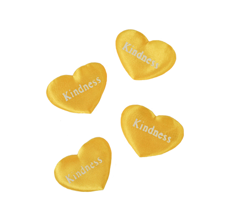 Yellow Printed Heart Kindness
