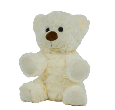 "White Twist Bear 8"""