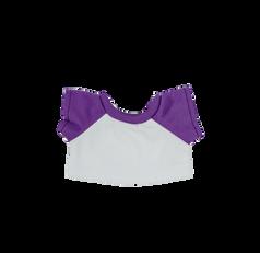 "Purple and White Baseball T-Shirt 8"""