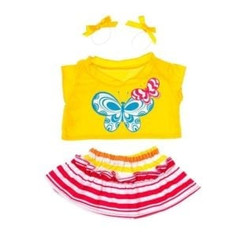 Butterfly Outfit with Yellow Bows 16""