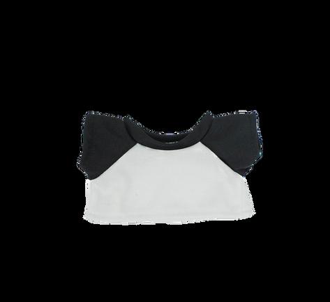 "White and Black T-Shirt 8"""