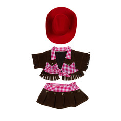 Cowgirl Outfit with Red Hat 16""