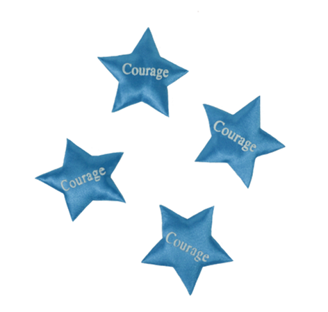 Blue Printed Star Courage