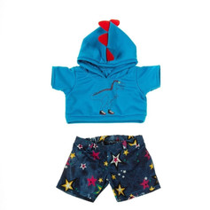 Dino Hoodie and Star Jean Shorts 16""