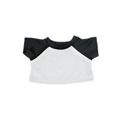 "Black and White Baseball T-Shirt 16"""