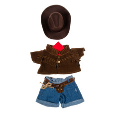 Cowboy Outfit with Brown Hat 16""