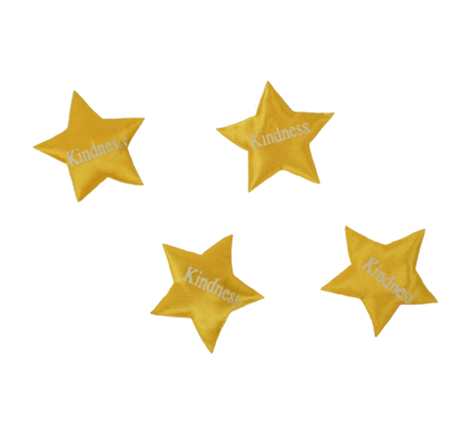Yellow Printed Star Kindness