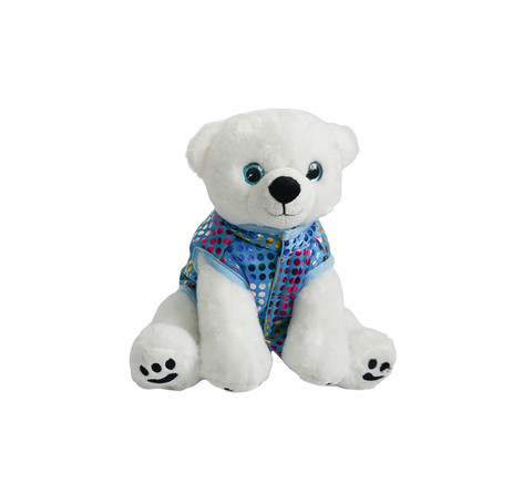 """Blue Puff Vest 16"""" - for sitting animal"""