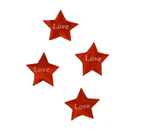 Red Printed Star Love