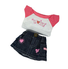 """Love T-Shirt and Jean Skirt 8"""""""