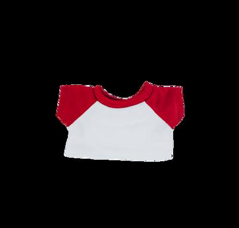 "Red and White Baseball T-Shirt 8"""