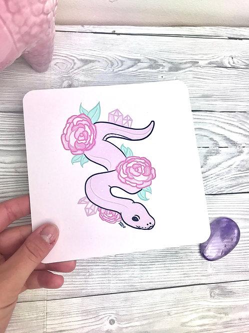 Pink snake print
