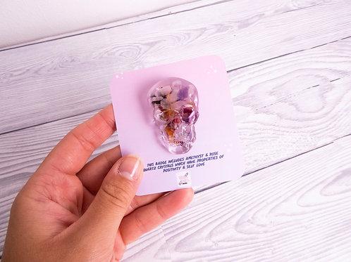 Skull head, Crystal Badge