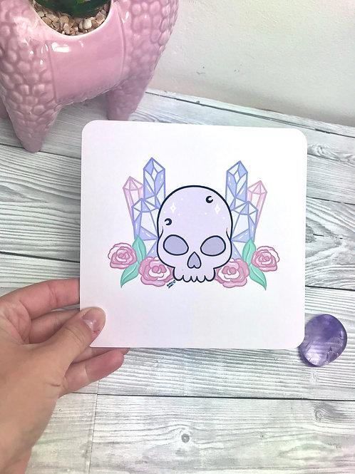 Crystal skull print
