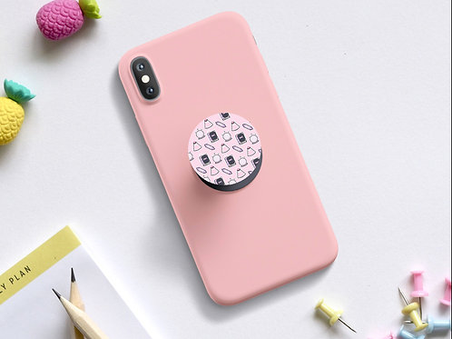 Pink witchy phone pop grip