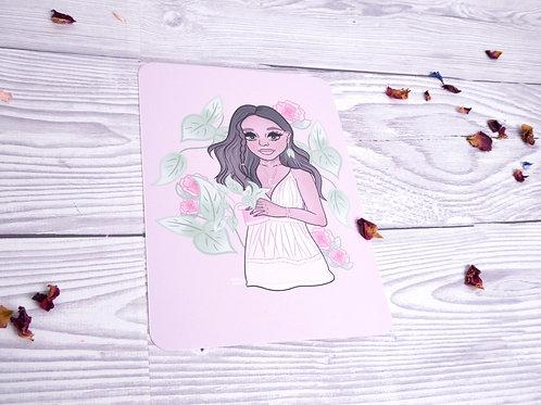 Flower Girl Illustration Print