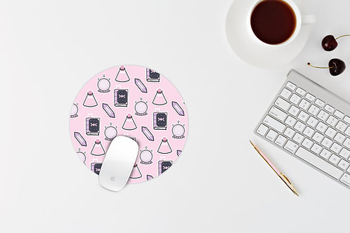 Pinky witchy themed mouse mat