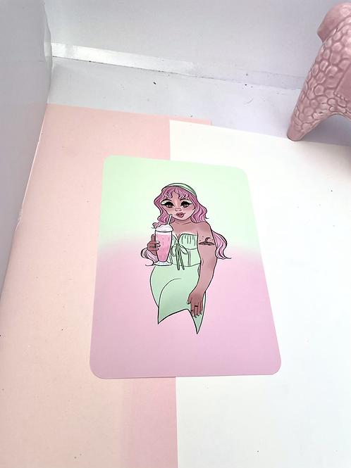 Milkshake gal print
