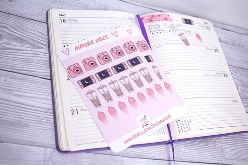 Aurora Vibes Sticker Sheet