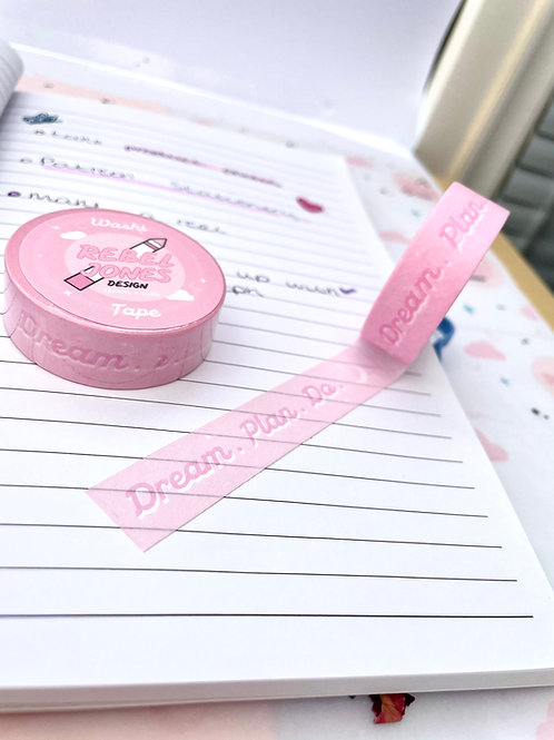 Dream, Plan, Do Washi tape