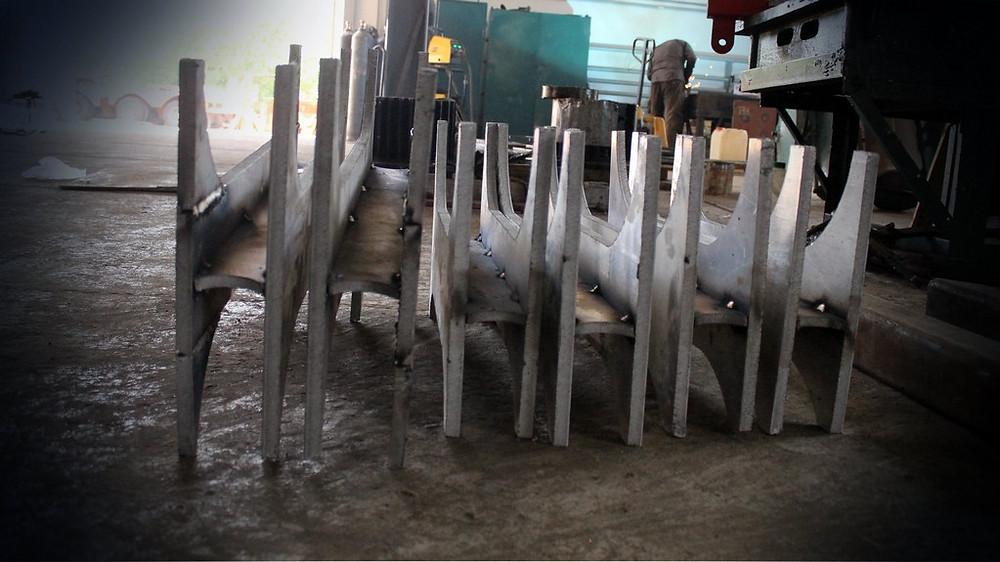 Изготовление новых деталей для ремонта рамы