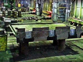 Ремонт станины пресса 4000тс мобильным фрезерным станком