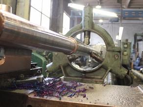 Ремонт вала холодного смесителя экструзионного оборудования и изготовление нового