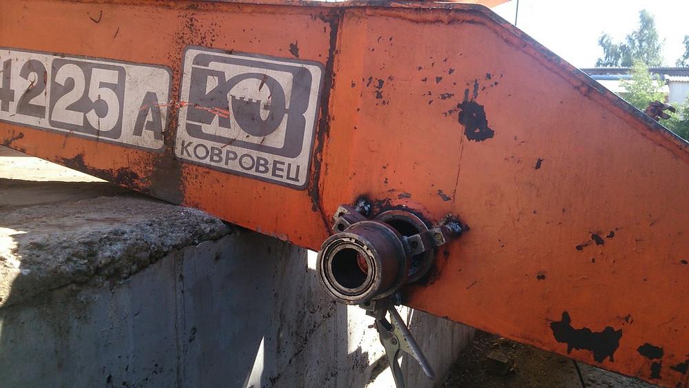 Восстановление посадочного места рукояти перегружателя КОВРОВЕЦ