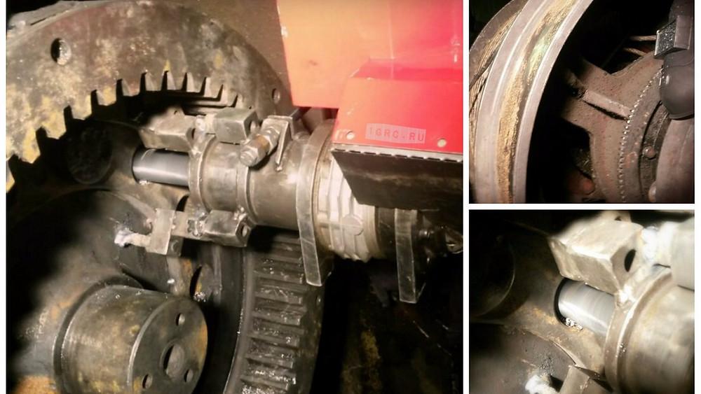 Ремонт отверстий на шестерне главного вала шагающего экскаватора ЭКГ