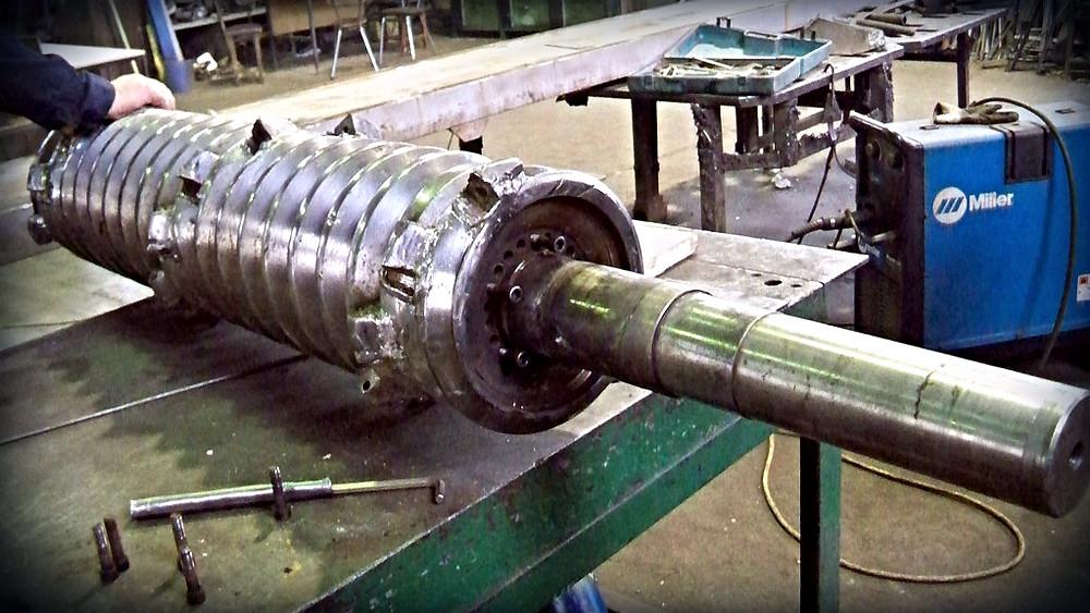 Ремонт одновалкового шредера VAZ 145/135