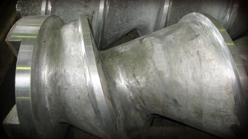 Проточка шнеков в размер