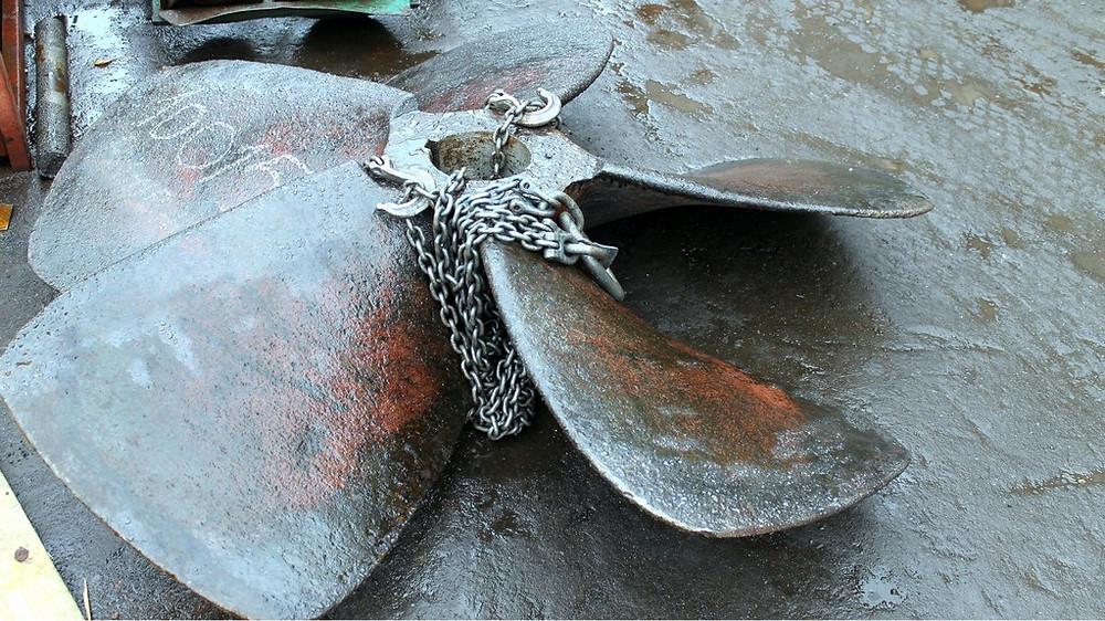 Расточка конической посадки на гребном винте